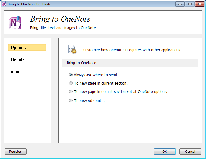 Gem Fix for Bring to OneNote